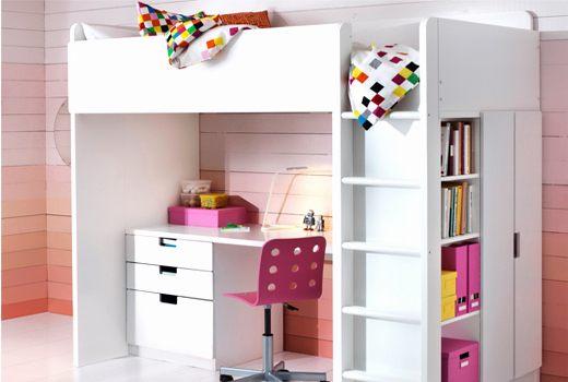 Lit Mezzanine Rangement Luxe Bureau Avec Rangement Intégré Fashion