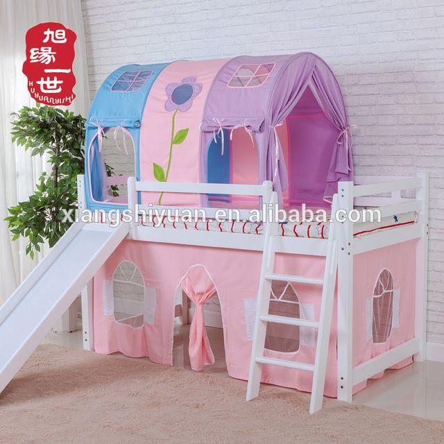 Lit Enfant Tente Frais source Kids Furniture Pink Color Princess Castle Loft Bunk Bed with