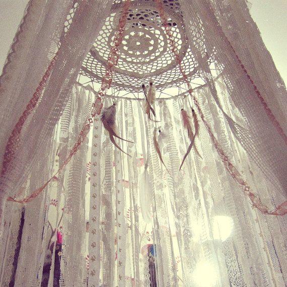 Lit Enfant Tente Inspiré Boho Bed Crown Baby Crib Canopy Gypsy Nursery Decor