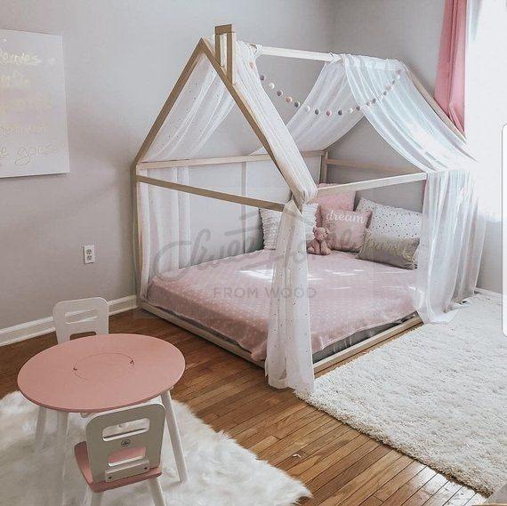 Lit Enfant Tipi Impressionnant Montessori toddler Beds Frame Bed House Bed House Wood House Kids