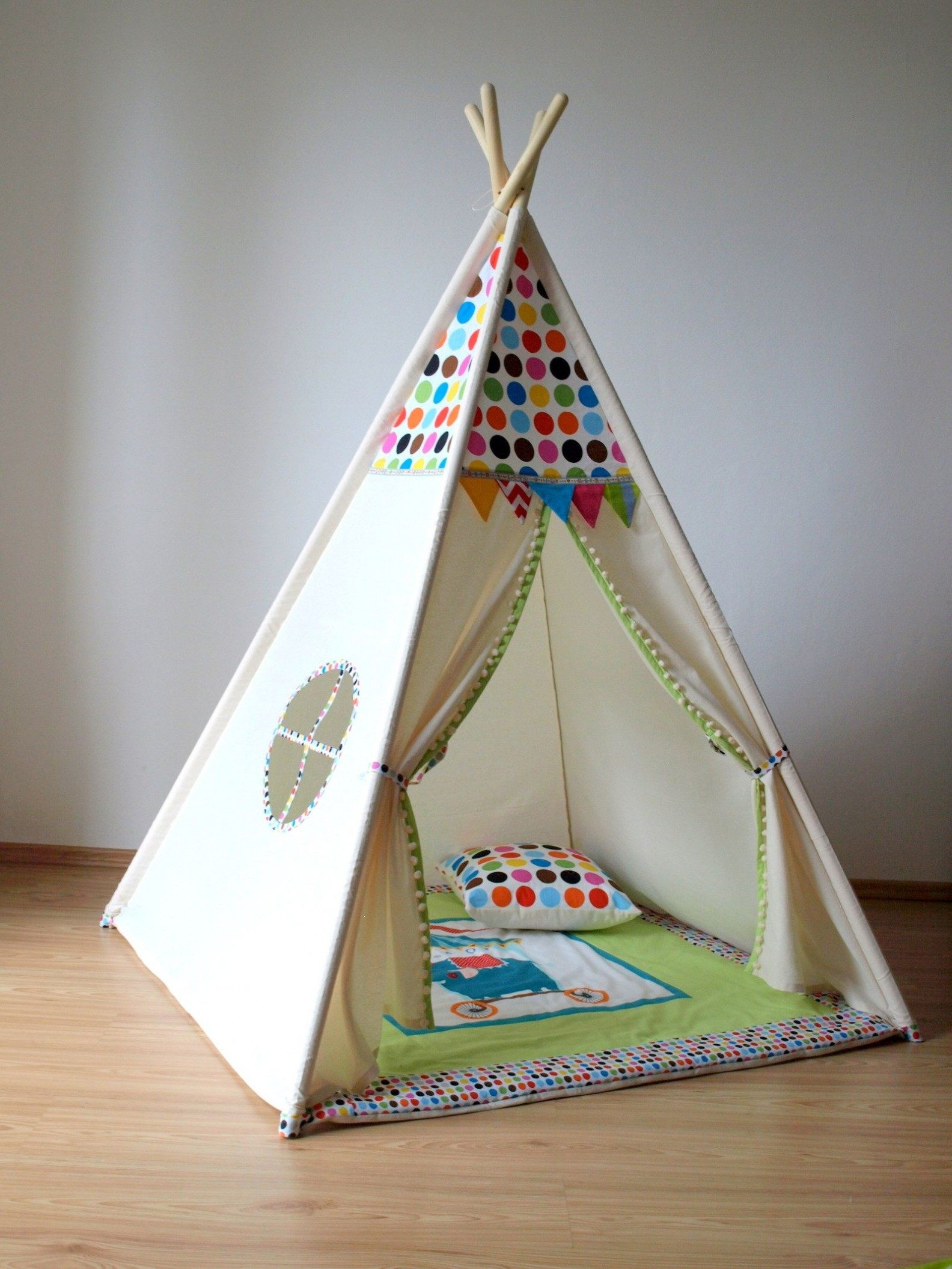 Lit Enfant Tipi Magnifique Lesmeubles Ready to Ship White Teepee Tent Childrens Teepee Canvas