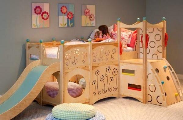 Lit Enfant toboggan Fraîche Lit Mezzanine toboggan Luxe Chambre Pour Enfant Avec Un Lit