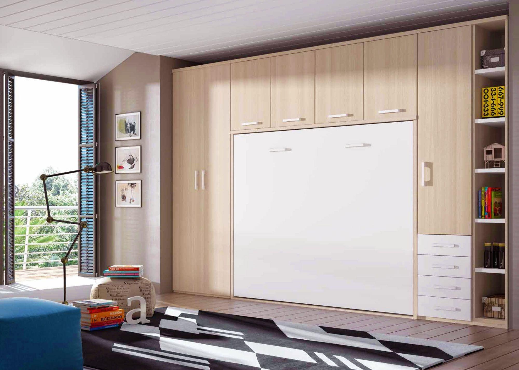 Lit Escamotable 160×200 Beau Chambre Avec Lit Armoire Escamotable Personnalisable F365 Glicerio