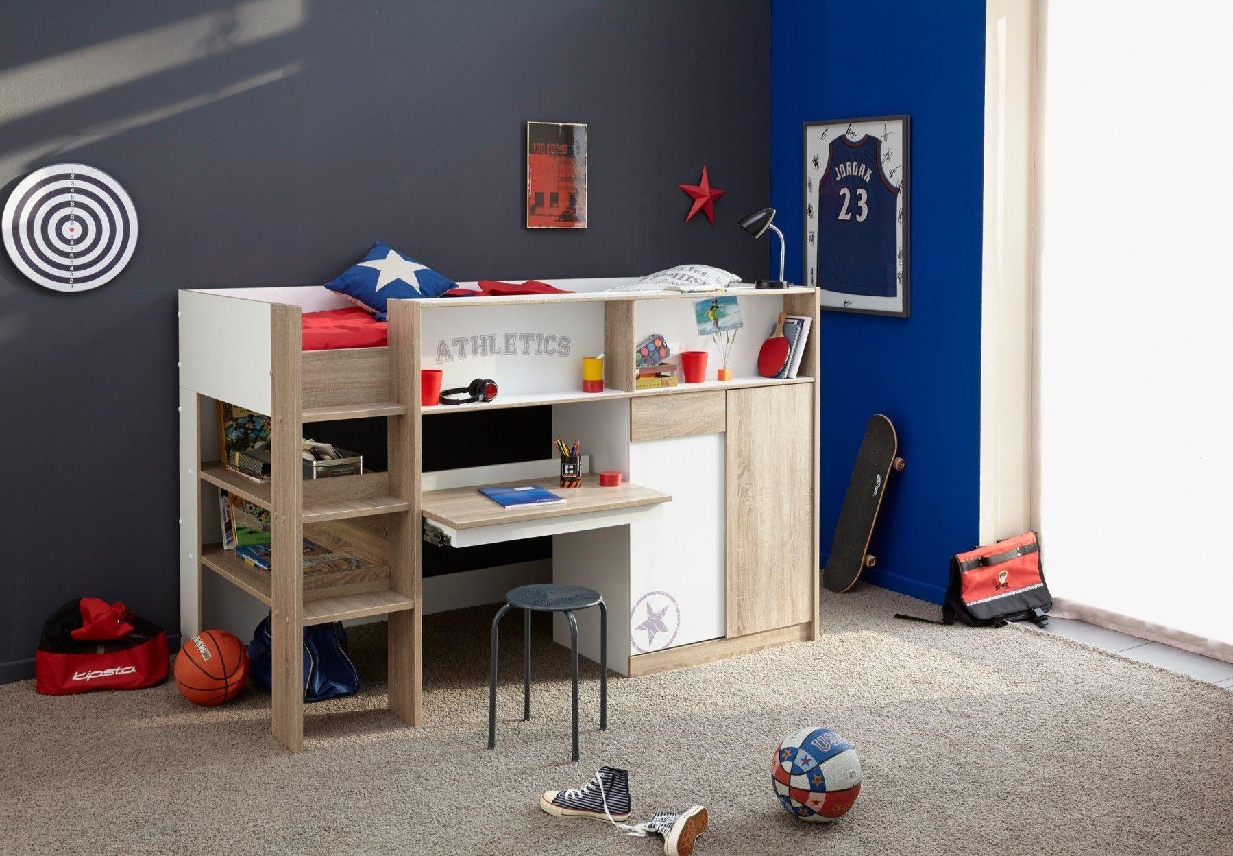 Lit Escamotable Superposé Luxe Délicieux Chambre Enfant Lit Superposé  Lit Superposé Avec Bureau