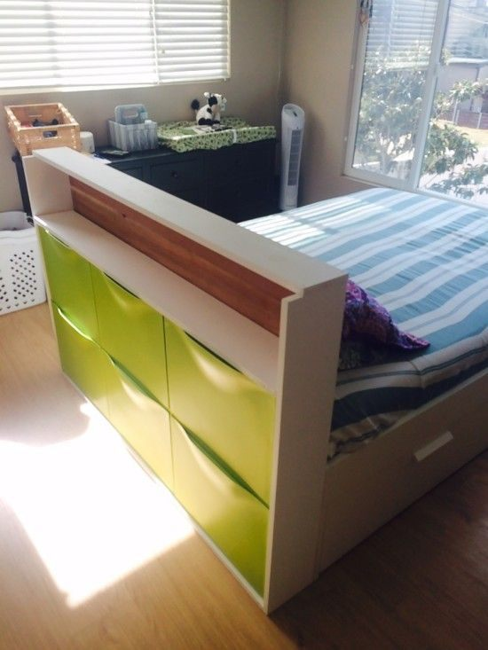 Lit Estrade Ikea Impressionnant Trones Storage Headboard Log Home Plans