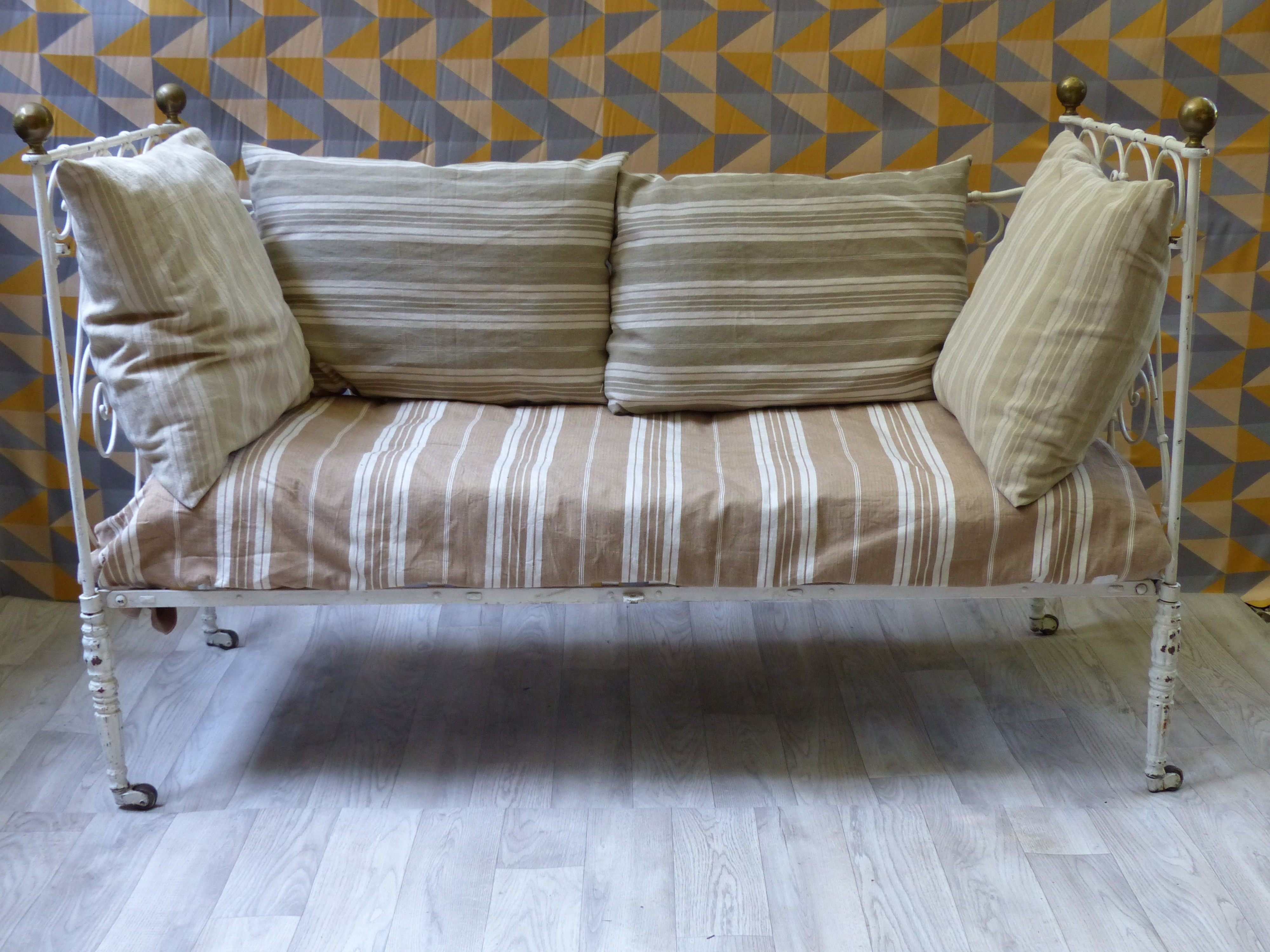 Chaise En Fer forgé Banc Fer forge Luxury Lit Fer Blanc 11