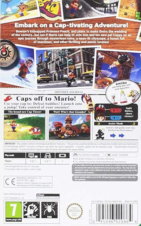 Lit Fille 2 Ans De Luxe Super Mario Odyssey Nintendo Switch Amazon Pc & Video Games