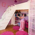 Lit Fille Mezzanine Élégant Un Lit De Princesse En Mezzanine Maison Kids Rooms