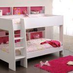Lit Fille Pas Cher Belle Lit Superposé Fille Blanc Et Rose Aria Pinterest