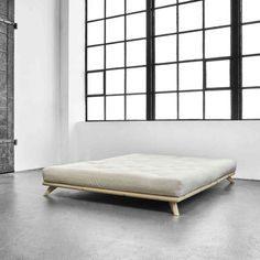 Lit Futon 160x200 Luxe Essentials Kano Platform Kingsize Bed Zwartgebeitst Grenen