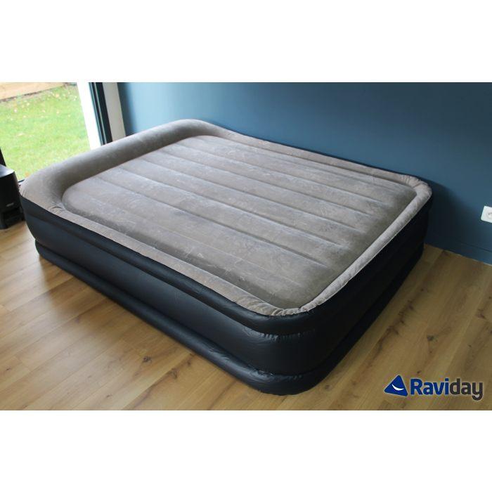Lit Gonflable 2 Personnes Beau Intex Rest Bed Deluxe Fiber Tech 2 Places Matelas Gonflable