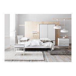 Lit Ikea 160×200 Bel Trysil Sängynrunko Valkoinen Vaaleanharmaa V Roce 2018