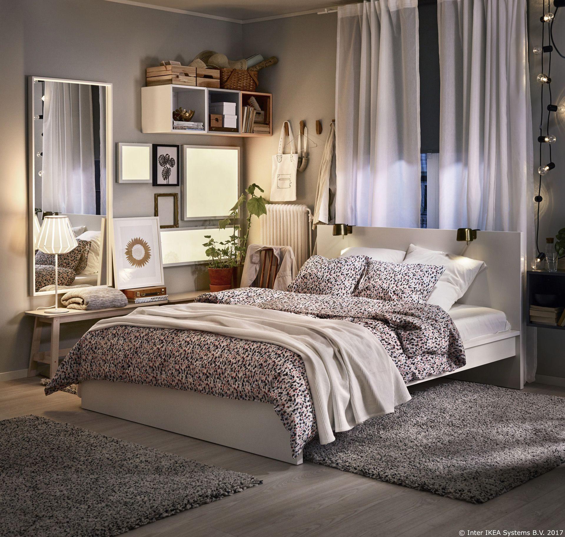 Lit King Size 200×200 Ikea Charmant Sm…starr Navlaka I 2 Jastučnice točkasto ViÅ¡ebojno In 2019