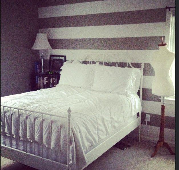 Lit King Size Ikea Génial My Bedroom Striped Walls Leirvik White Ikea Bed Still Not