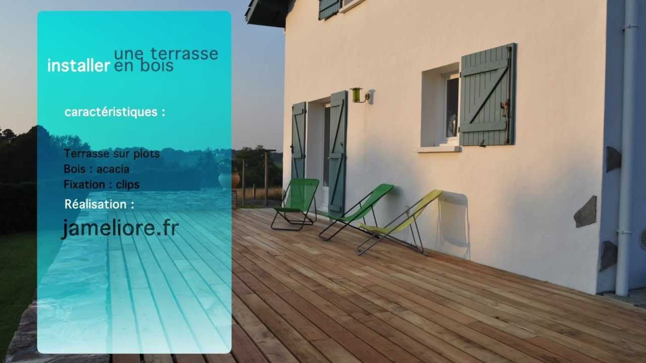 Lit Maison Bois Agréable Construction D Une Terrasse En Bois Lambourdes Et Plots