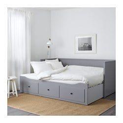 Lit Malm Ikea 90 Beau Hemnes Leżanka Z 3 Szufl 2 Mat Szary Moshult Twardy Ikea