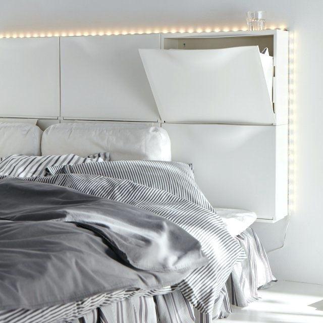 Lit Malm Ikea 90 Frais Ikea Tete De Lit Malm Cool Affordable Rangement De Lit Lit Places S