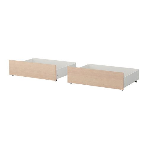 Lit Malm Ikea 90 Inspirant Malm Rangement Pr Lit Haut Plaqué Chªne Blanchi 200 Cm