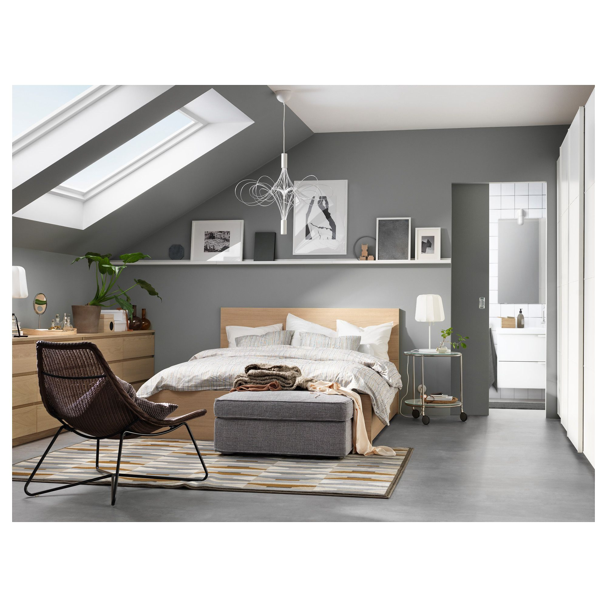 Lit Malm Ikea 90 Magnifique Ikea Malm High Bed Frame 2 Storage Boxes Queen Luröy the 2