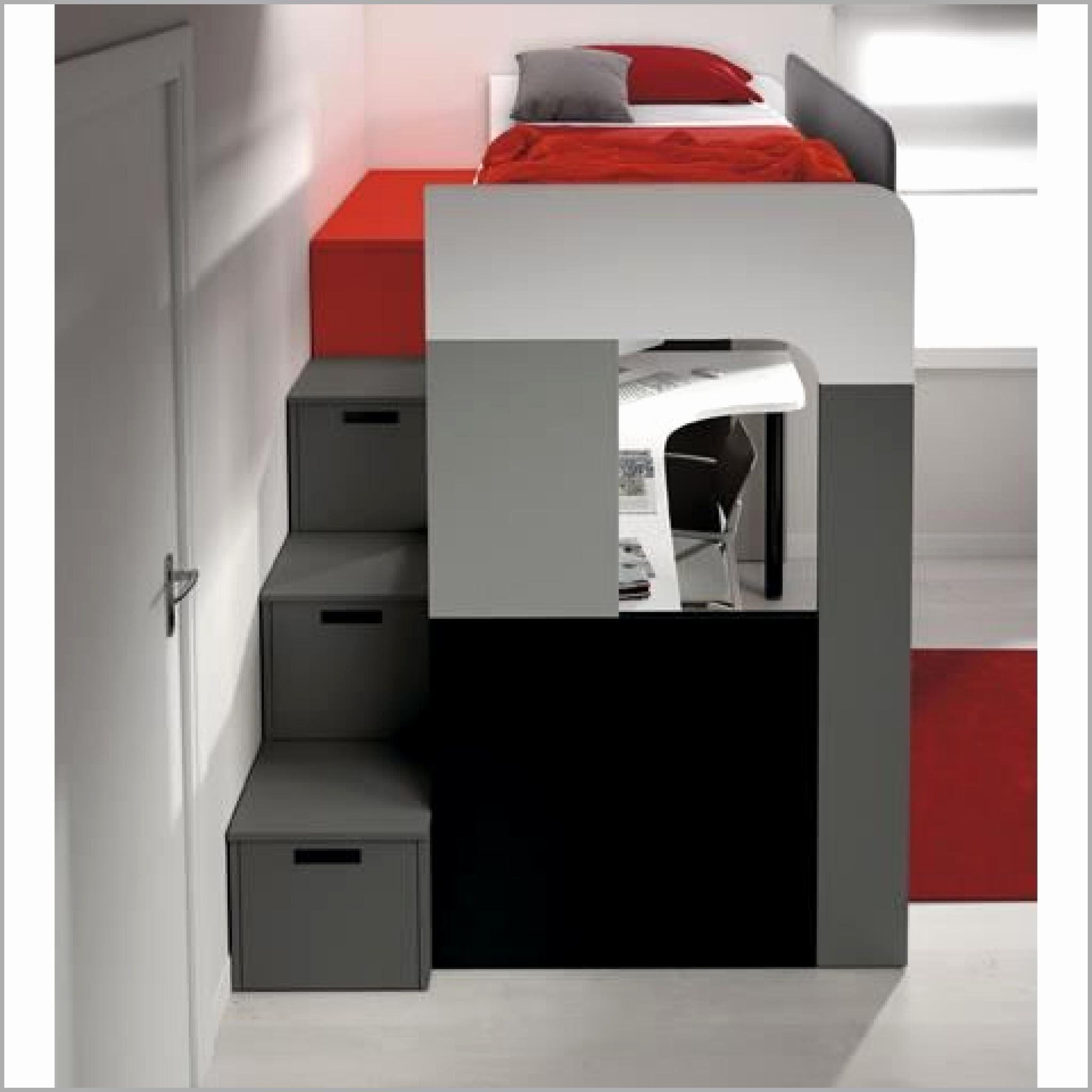 Lit Mezzanine 1 Place Avec Bureau Belle Lit Mezzanine Avec Armoire Integree Schön Ikea Rangement Lit Beau