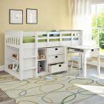 Lit Mezzanine 1 Place Avec Bureau De Luxe Lit Mezzanine Pour Adulte Elegant Lit Mezzanine Bas Design Kitchen