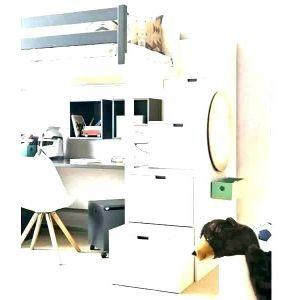 """Lit Mezzanine 120×190 Agréable Lit Mezzanine Avec Dressing Garderoba Styl nowoczesny Zdj""""â""""¢cie Od"""