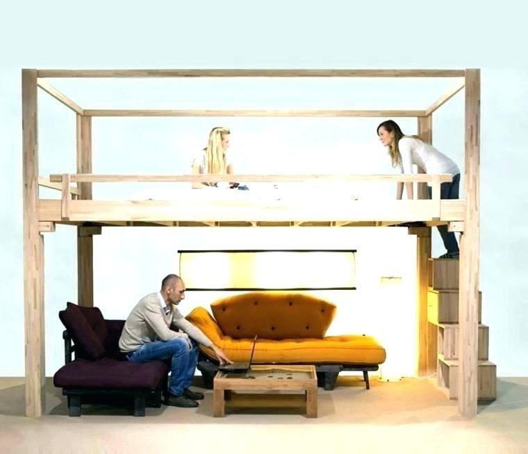 Lit Mezzanine 120×190 De Luxe Lit En Bois Simple – Familyliveson