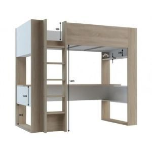 Lit Mezzanine 140×190 Ikea Nouveau Lit Mezzanine Noa Lit Mezzanine Bureau Fly – Spallinux
