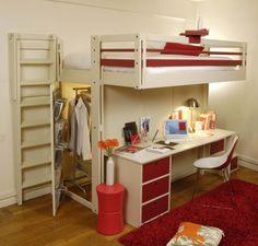 INSPIRATION AMENAGEMENT choisir deux lits plateforme avec bureau