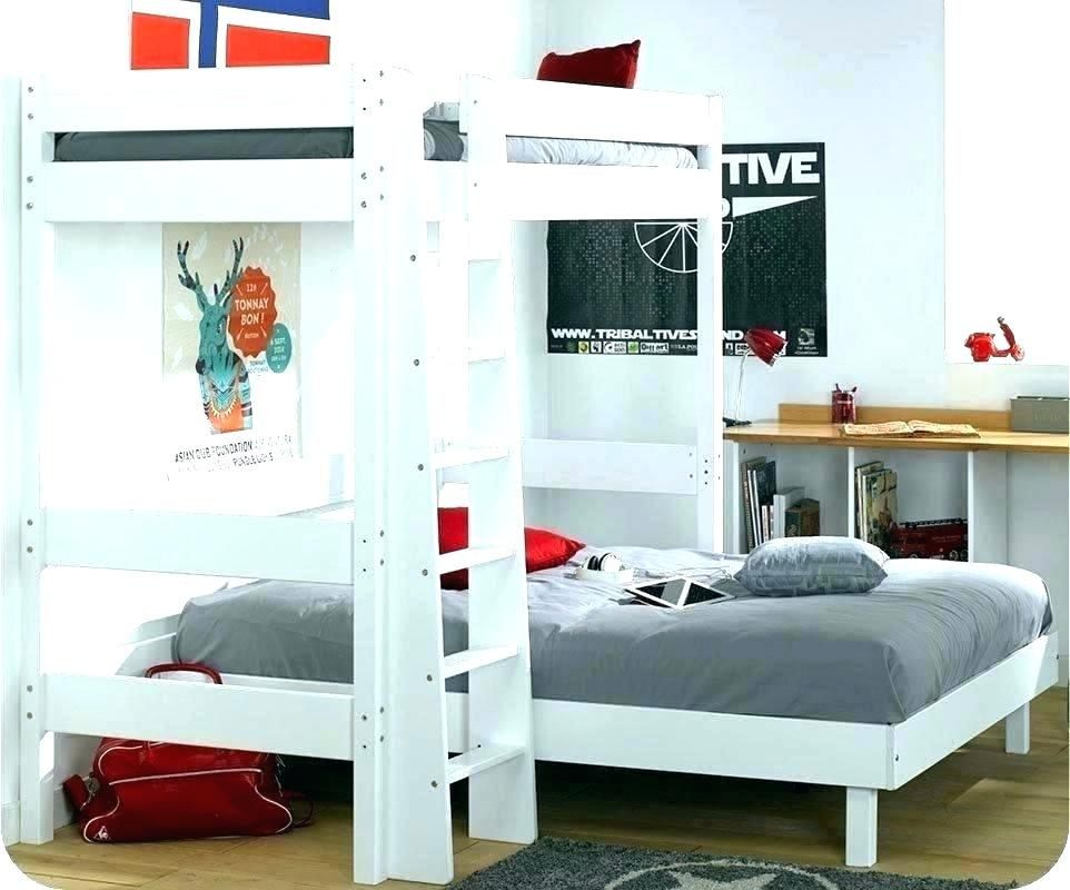 Lit Mezzanine 160×200 Bel Lit Mezzanine 160—200 Beau Lit 2 Places 160—200 Stockholm Bed Frame