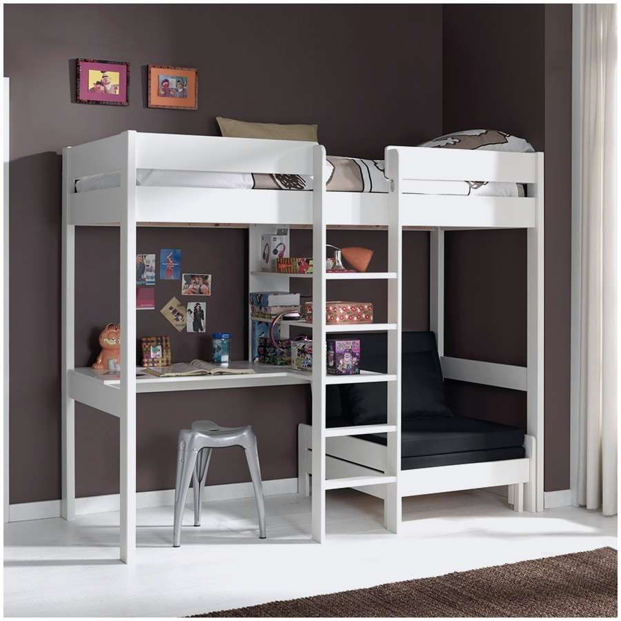 Lit Mezzanine 160×200 Fraîche Le Meilleur De Lit Mezzanine Adulte 160—200 Luxe Lit Bois 160—200