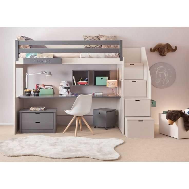 Lit Mezzanine 2 Places Avec Escalier De Luxe Escalier Rangement Intégré 41 élégant Table De Cuisine Avec