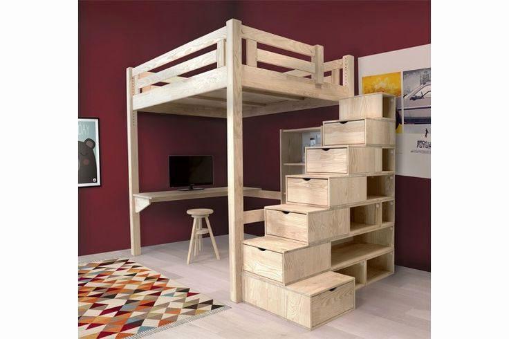 Lit Mezzanine 2 Places Avec Escalier Impressionnant Lit Superpose Escalier Avec Rangement Beau Lit Mezzanine 2 Places