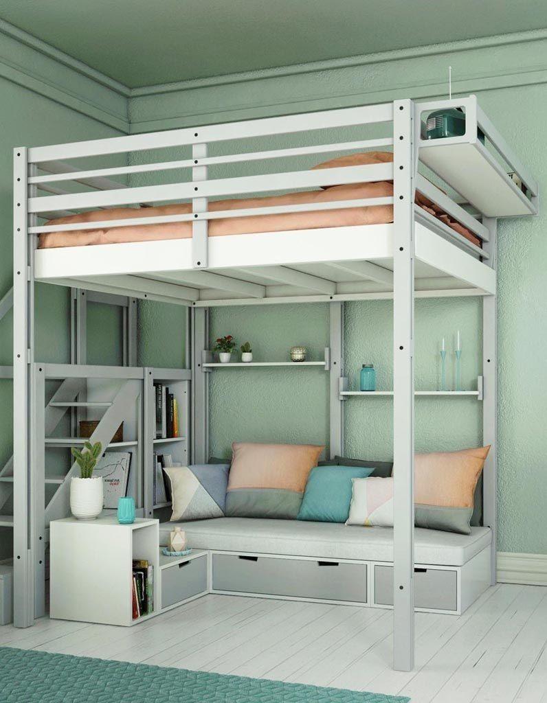 Lit Mezzanine 2 Places Avec Escalier Inspirant Rangement Dessous De Lit Best Lit Avec Escalier Rangement Rangement