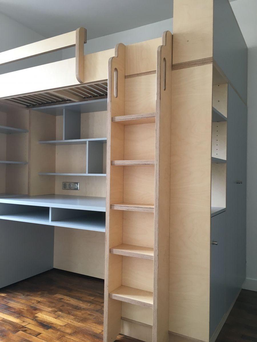 Lit Mezzanine 90×190 Beau Bureau Ado Avec Rangement Lit Bureau Enfant Bine 90—190 Cm