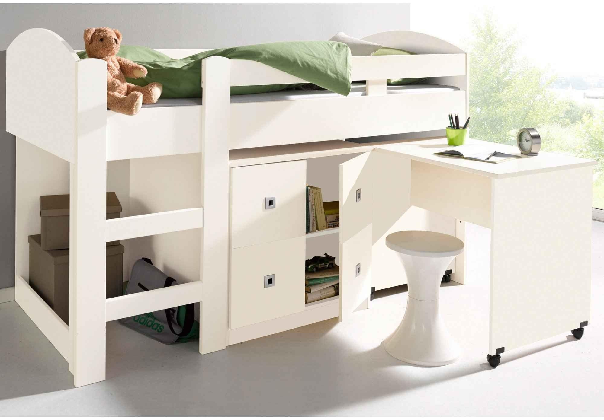 Lit Mezzanine 90×190 Joli Bureau Ado Avec Rangement Lit Bureau Enfant Bine 90—190 Cm