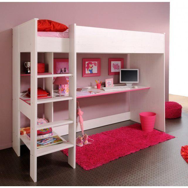 Lit Mezzanine 90×200 Bel Lit Mezzanine Enfant 90×200 En Bois Imitation Pin Memphis Lm1009