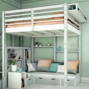 Lit Mezzanine 90×200 Belle Lit Mezzanine Noa Lit Bureau Unique Best Media Cache Ec0 Pinimg 550x