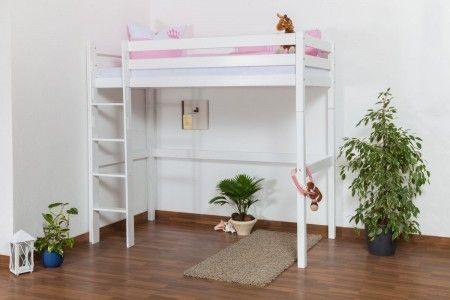 Lit Mezzanine 90×200 De Luxe Lit Pour Enfant Lit En Mezzanine Dominik En Hªtre Massif Peint En