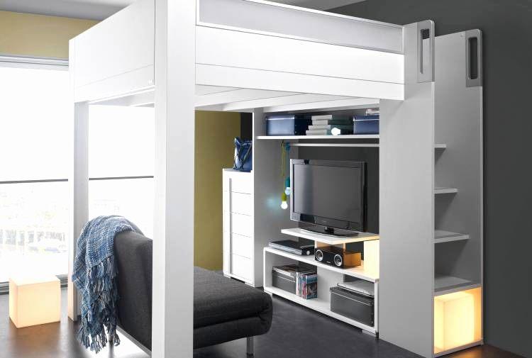 Lit Mezzanine Adulte Agréable Lit Adulte Mezzanine Frais Lit En Mezzanine Luxe Rangement Escalier
