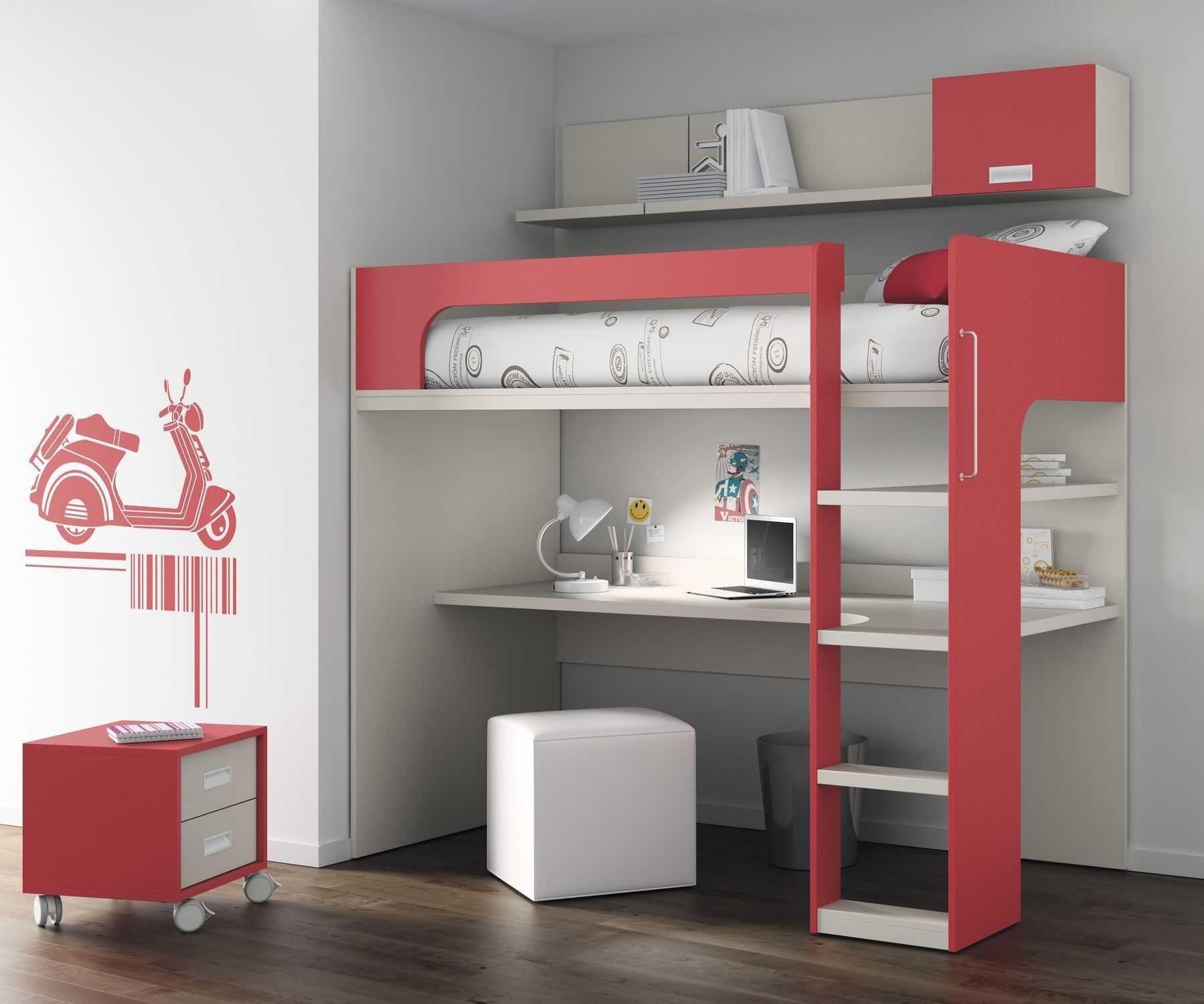 Lit Mezzanine Avec Armoire Penderie étagères Bureau Frais Lit Mezzanine Avec Armoire Et Bureau