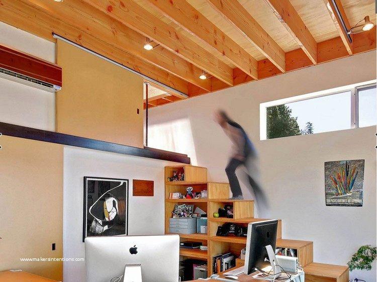 Lit Mezzanine Avec Armoire Penderie étagères Bureau Joli 40 Beau Créer Un Placard sous Escalier S