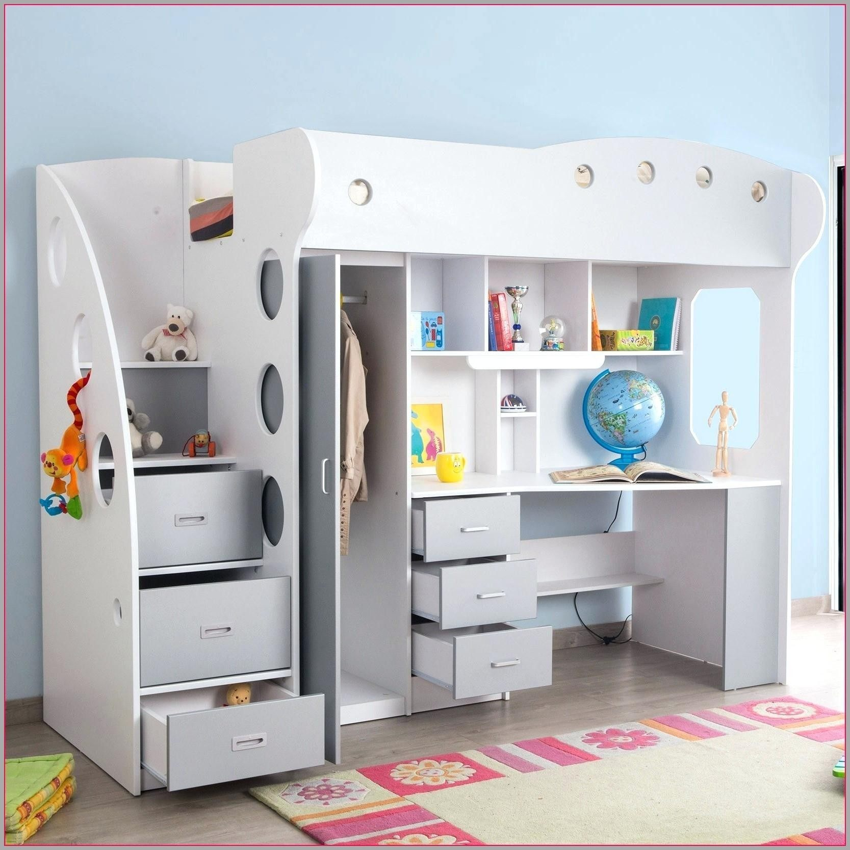 Lit Mezzanine Avec Bureau Et Armoire Belle Divin Lit Mezzanine Avec Bureau Et Armoire Dans Bureau Enfant Gain