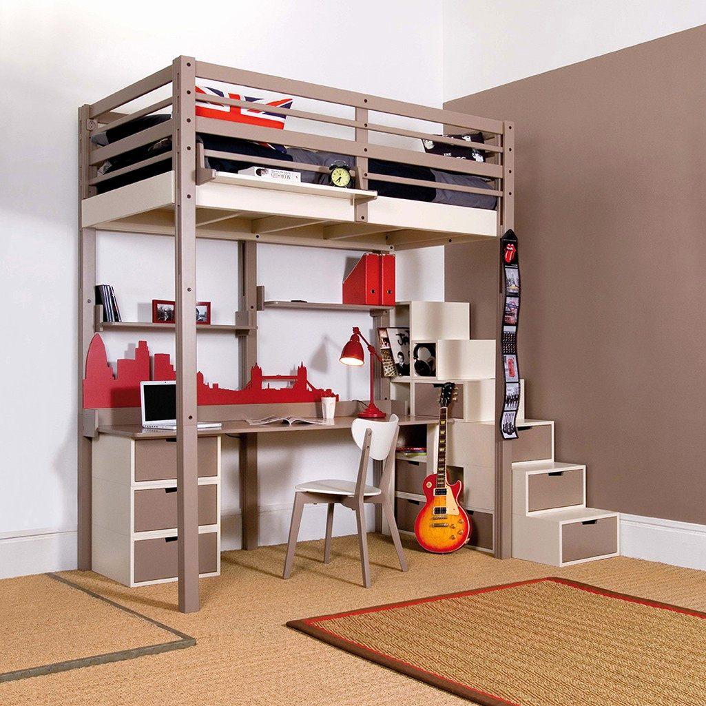 Lit Mezzanine Avec Bureau Et Rangement Agréable 48 Concept Lit Mezzanine Avec Bureau Et Rangement