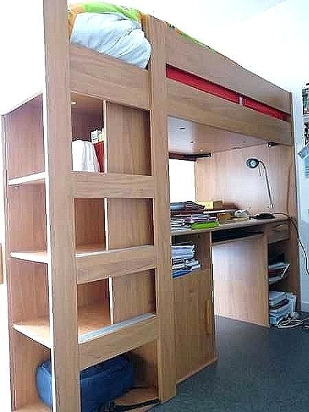 Lit Mezzanine Avec Bureau Et Rangement Impressionnant Lit Mezzanine Rangement Lit Mezzanine Avec Rangement Lit Superpose