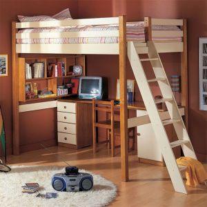Lit Mezzanine Avec Bureau Et Rangement Inspiré Lit Mezzanine Bureau Escalier Mezzanine Design Chambre élégant Lit