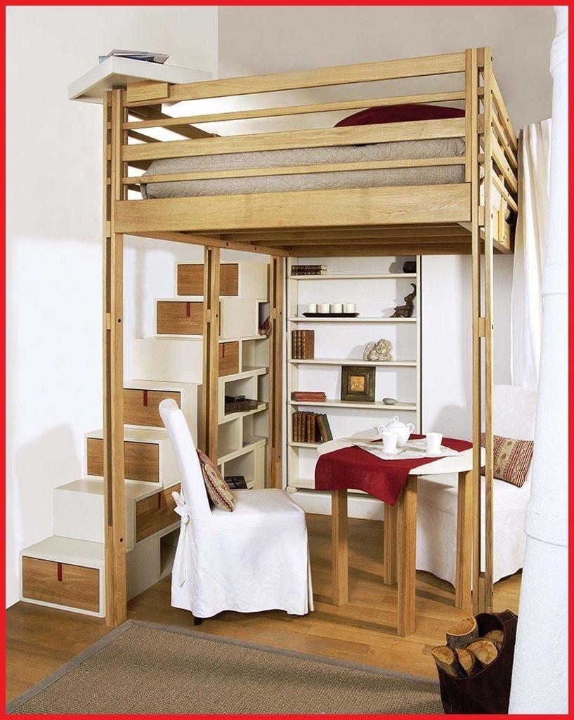 Lit Mezzanine Avec Bureau Intégré Conforama De Luxe Lit Rangement Intégré