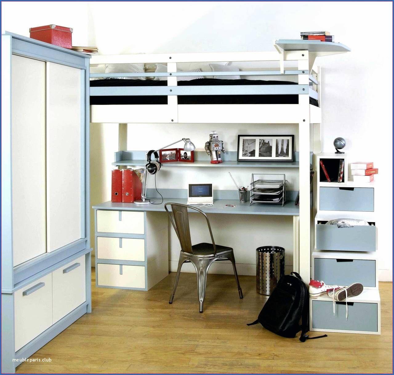 Lit Mezzanine Avec Bureau Intégré Frais Meuble Paris