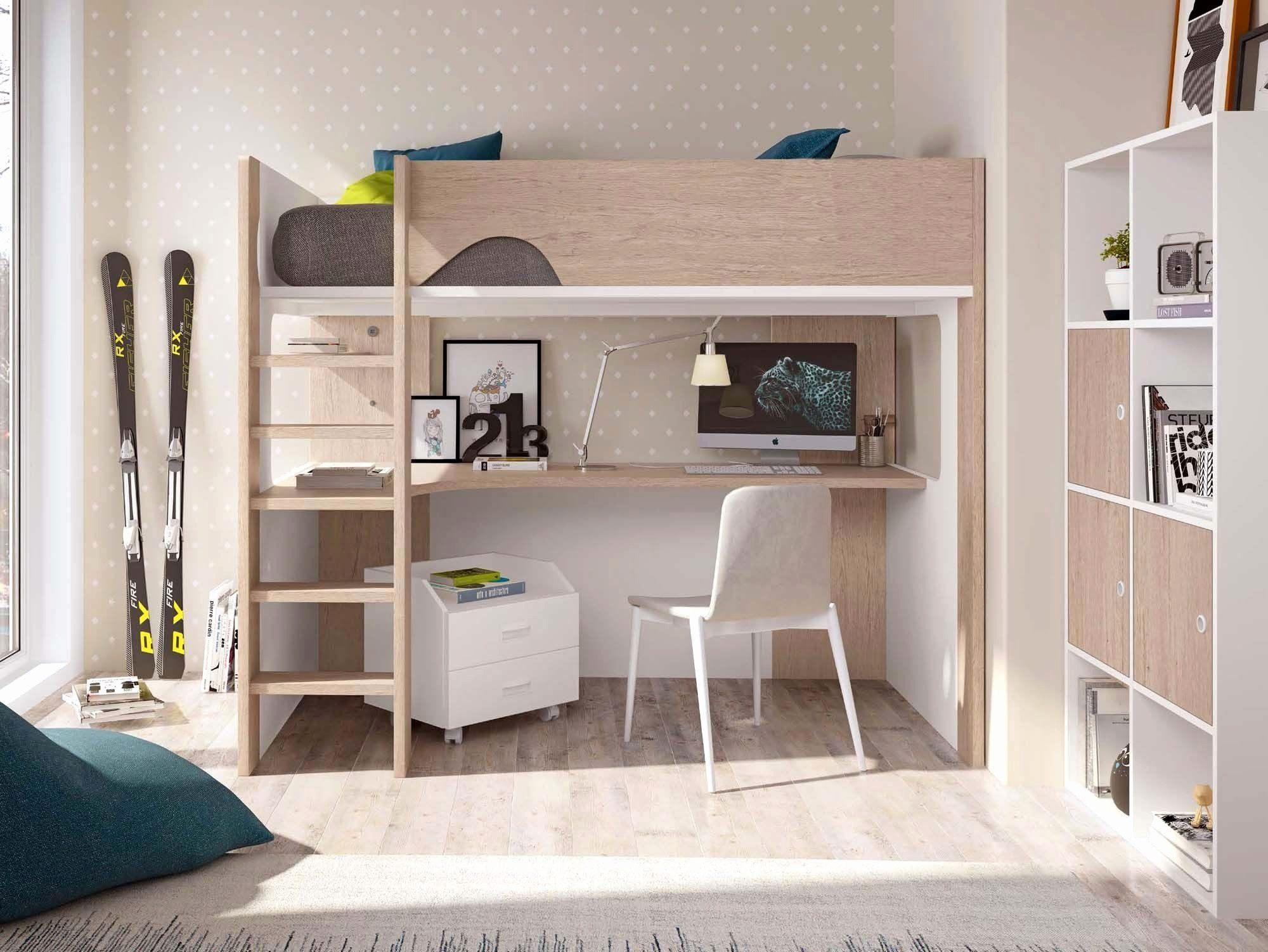 Lit Mezzanine Avec Bureau Luxe Double Bureau Lit Double Mezzanine ...