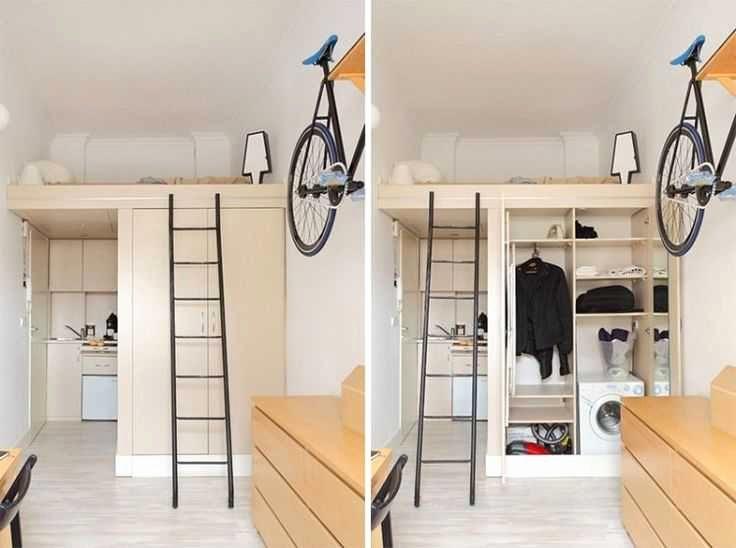 Mezzanine Design Chambre élégant Lit En Mezzanine Luxe Rangement